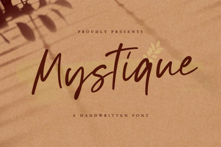 Preview image of Mystique – Luxury Signature Font