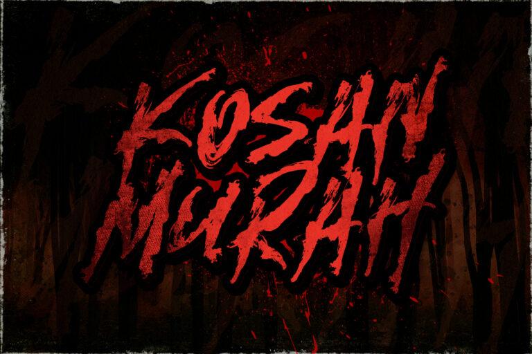 Preview image of Kosan Murah – Horror Font