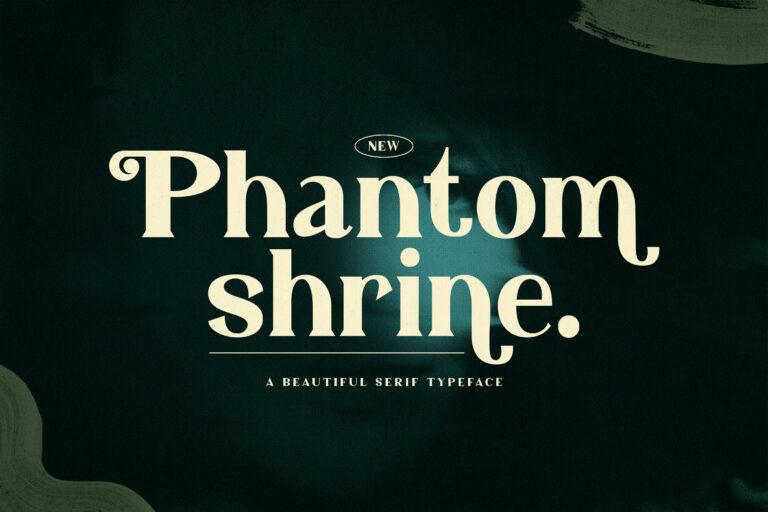 Preview image of Phantom Shrine – Beautiful Serif Font