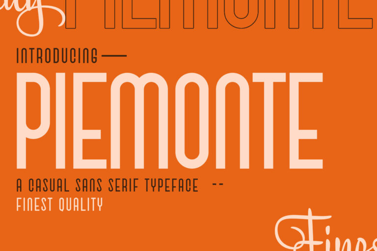 Preview image of Piemonte – Casual Sans Serif Font