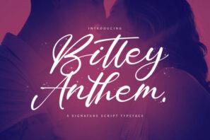 Bitley Anthem - Handwritten Font