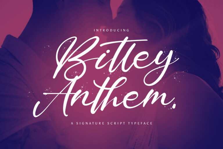 Preview image of Bitley Anthem – Handwritten Font