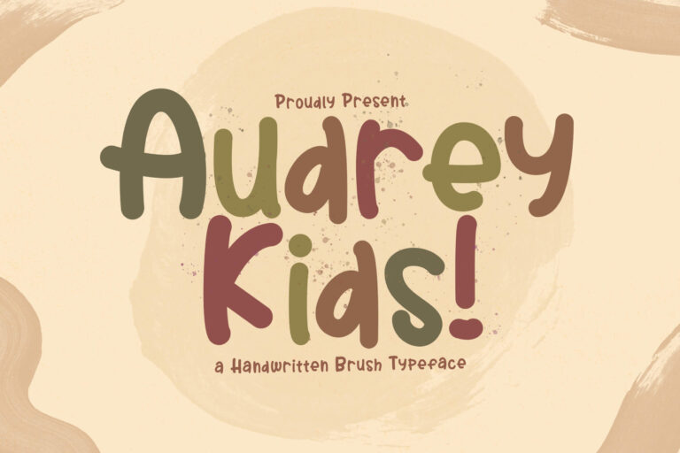 Preview image of Audrey Kids – Playful Display Font