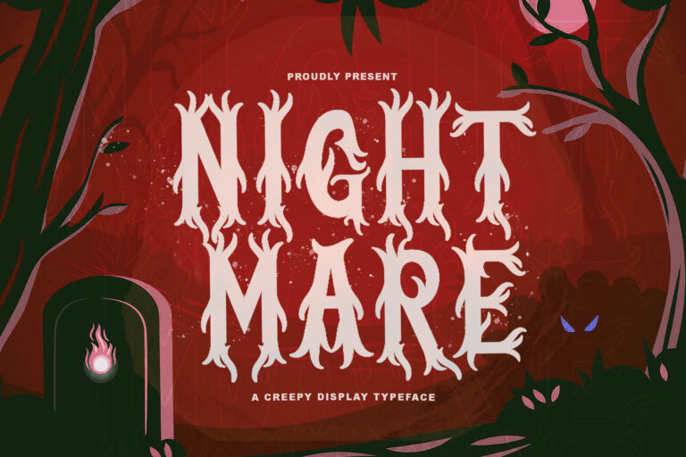 Preview image of Nightmare – Horror Font