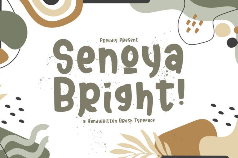 Preview image of Senoya Bright – Display Font