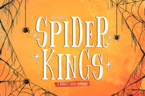 Spider King - Bouncy Serif Font