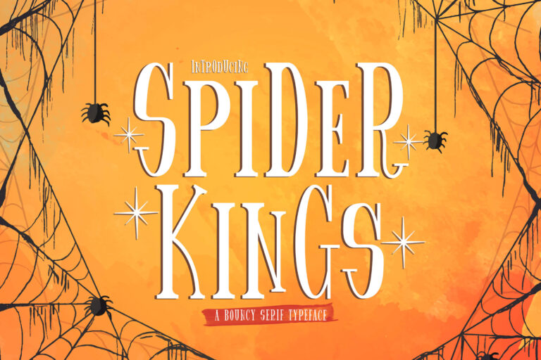 Preview image of Spider King – Bouncy Serif Font