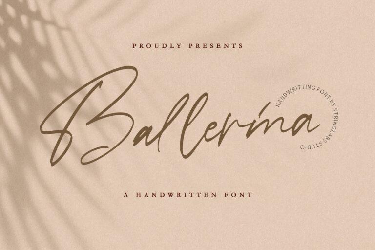 Preview image of Ballerina – Signature Script Font