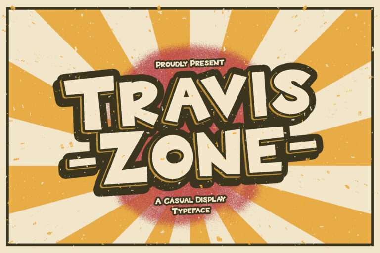 Preview image of Travis Zone – Playful Display Font