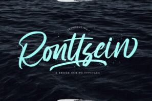 Ronttsein - Brush Script Font