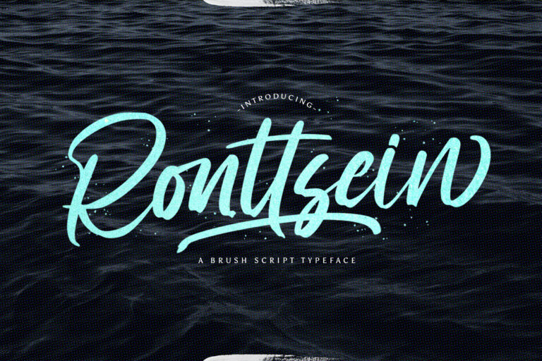 Preview image of Ronttsein – Brush Script Font
