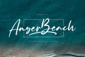 Anyer Beach - Handwritten Font