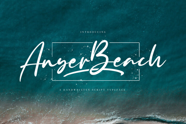 Preview image of Anyer Beach – Handwritten Font