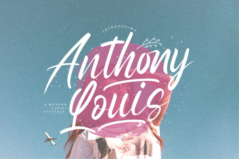 Preview image of Anthony Louis – Modern Script Font