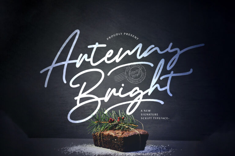 Preview image of Artemay Bright – Signature Script Font