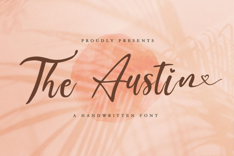 Preview image of The Austin – Handwritten Font