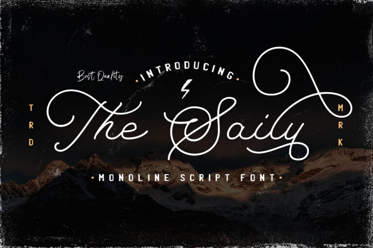 Preview image of The Saily – Monoline Retro Font