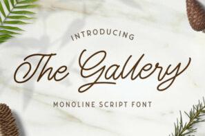 The Gallery - Monoline Script Font