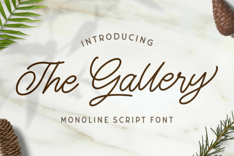 Preview image of The Gallery – Monoline Script Font