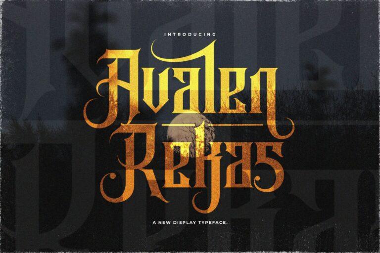 Preview image of Avalen Rekas – Blackletter Font