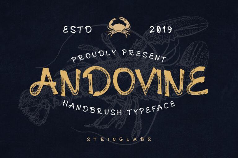 Preview image of Andovine – Handbrush Font