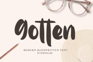 Gotten - Modern Handwritten Font