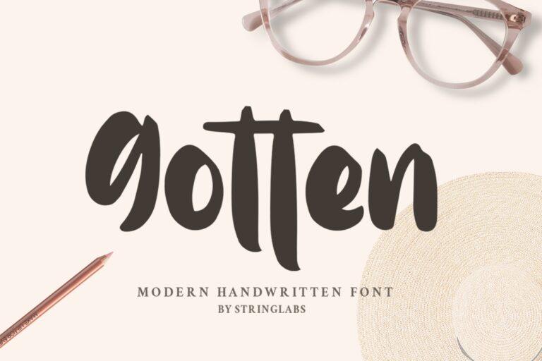 Preview image of Gotten – Modern Handwritten Font