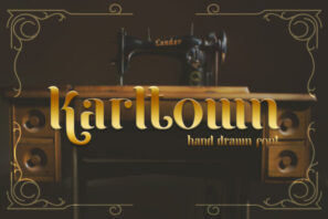 Karltown - Handdrawn Font