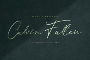Calvin Fallen - Handwritten Signature Script Font