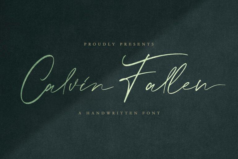 Preview image of Calvin Fallen – Handwritten Signature Script Font