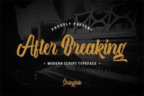 After Breaking - Modern Script Typeface