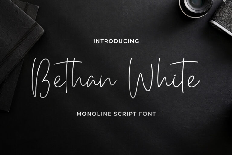 Preview image of Bethan White – Monoline Script Font
