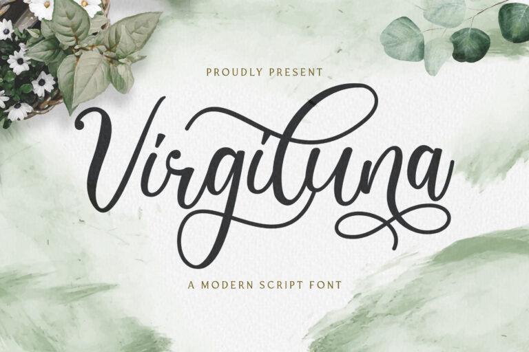 Preview image of Virgiluna – Modern Calligraphy Font
