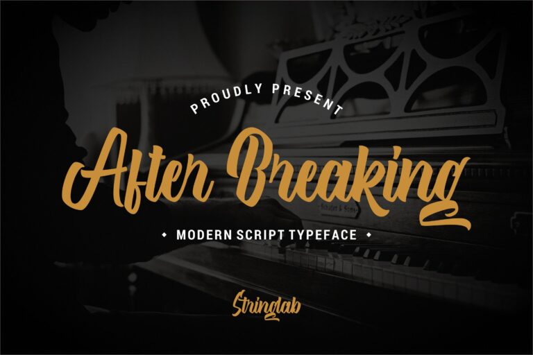 Preview image of After Breaking – Modern Script Typeface