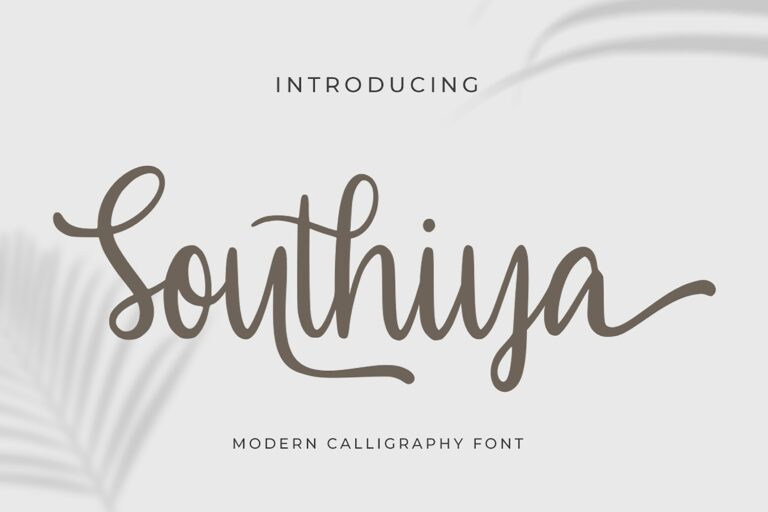 Preview image of Southiya – Modern Calligraphy Font