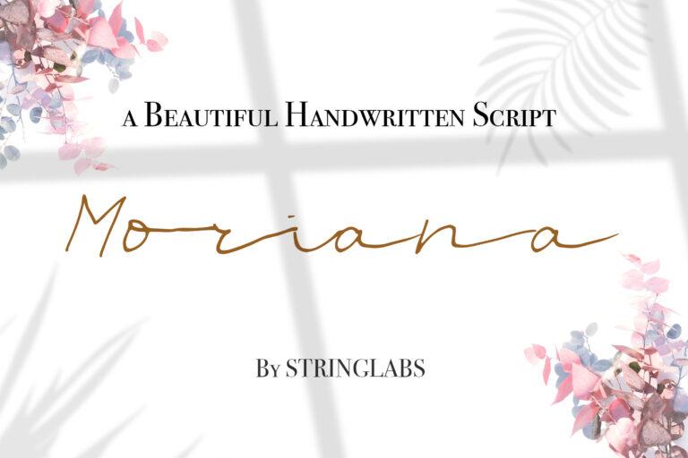 Preview image of Moriana – Handwritten Script Font