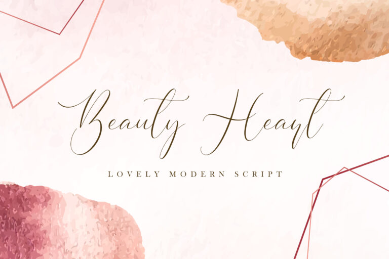 Preview image of Beauty Heart – Lovely Calligraphy Font