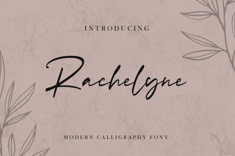 Preview image of Rachelyne – Modern Calligraphy Font