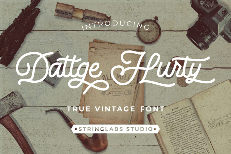 Preview image of Dattge Hurty – Monoline Retro Font