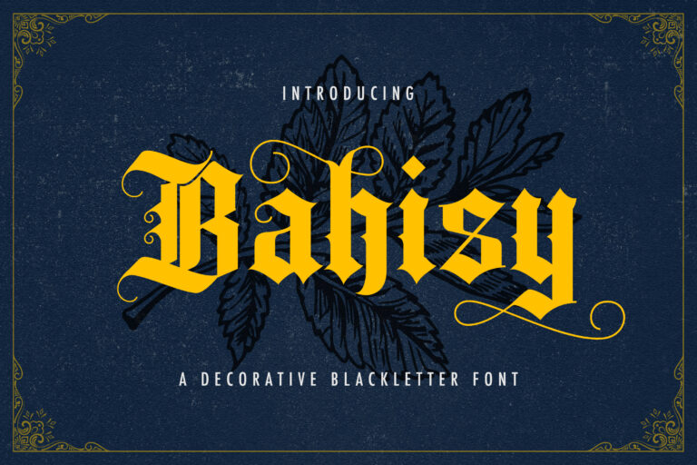 Preview image of Bahisy – Blackletter Font