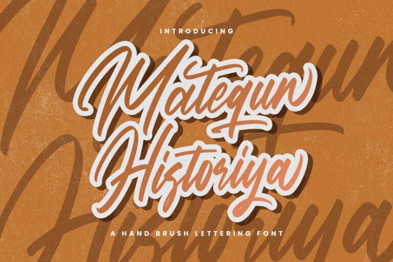 Preview image of Matequn Historiya – Handwritten Font
