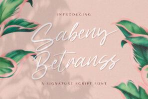 Sabeny Betranss - Handwritten Font