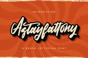 Astayfattony - Handwritten Font