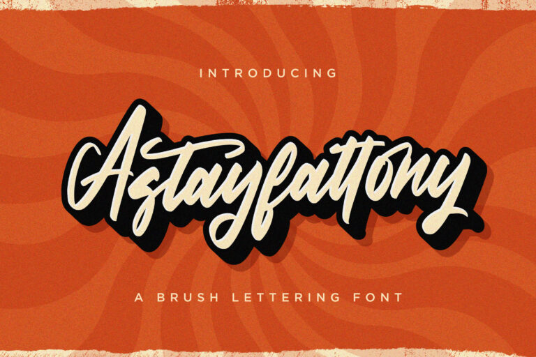 Preview image of Astayfattony – Handwritten Font