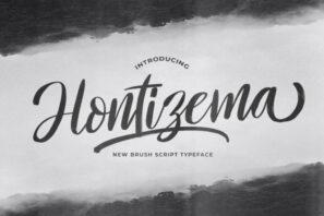 Hontizema - Handwritten Font