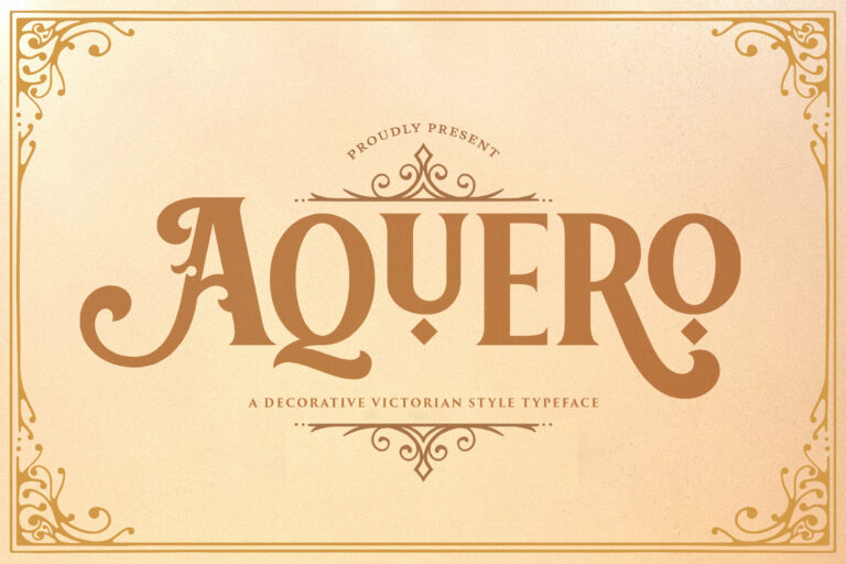 Preview image of Aquero – Victorian Style Font