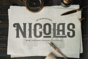 Nicolas - Victorian Style Font