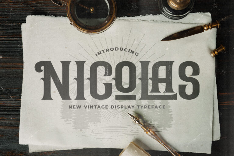 Preview image of Nicolas – Victorian Style Font