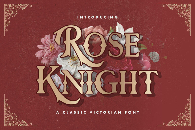 Preview image of Rose Knight – Victorian Style Font