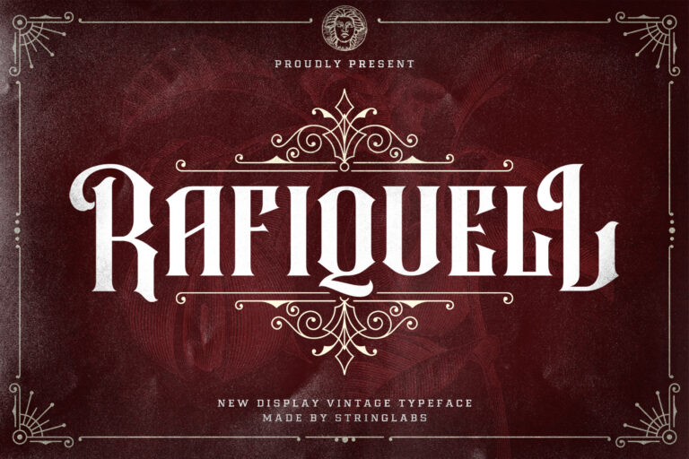 Preview image of Rafiquell – Victorian Style Font
